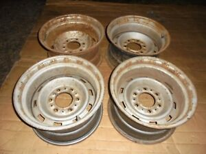 1960s 1970s 1980s Chevy Gmc Truck Rally Wheels 15 X 8 Dab Code 6 On 5 5