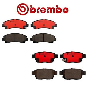 New Front And Rear Disc Brake Pads Kit Brembo For Acura Tl Honda Ridgeline