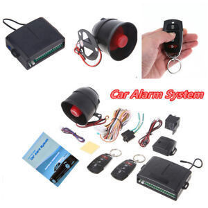 Car Alarm System 1 Way Vehicle Burglar Alarm Security Protection Remote Control
