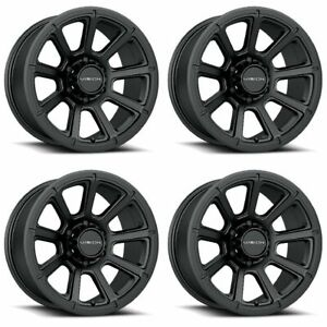 Set 4 16 Vision 353 Turbine Black Wheels 16x8 6x5 5 0mm Chevy Gmc Sierra 6 Lug