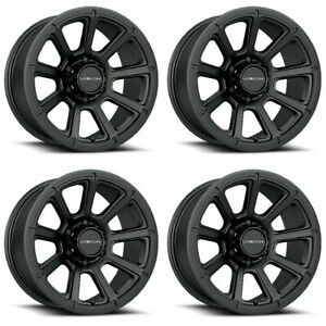 Set 4 17 Vision 353 Turbine Black Wheels 17x8 5 8x170 18mm Ford F250 F350 8 Lug