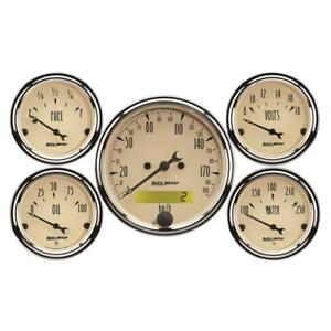 Auto Meter Gauge Set 1809 m Antique Beige