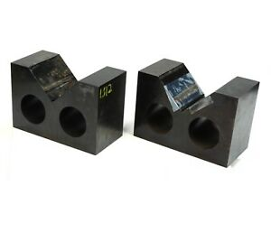 Set Of 2 Precision Machinist V block 8 X 4 X 5 1 2 High 4 1 2 Jaw Opening