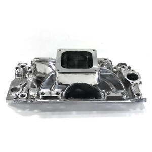 Renegade Intake Manifold 73032 Race Series Polished Aluminum For Chevy Bbc