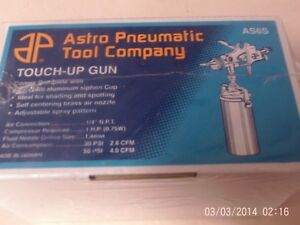 New Sealed In Box Astro Pneumatic Tool Touch up Gun With Siphon Cup As6s