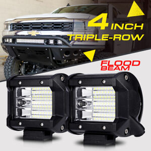4 324w Triple Row Flood Cree Led Light Pods Cube Offroad Pickup 4wd Suv 5 7 9