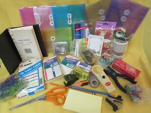 Office Supplies Lot Staples labels staples clips marker memo Binder hole Puncher