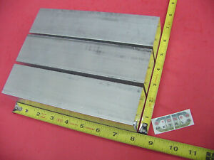 3 Pc 2 X 2 Aluminum 6061 Square Flat Bar 8 Long T6511 Solid 2 00 Mill Stock
