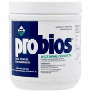 Probios Probiotic Bolus 1 4oz 50ct Microbial Sick Stress Cattle Sheep Goat Dairy