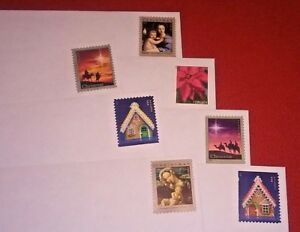 New 105 10 Pull Seal Security White Envelopes With A Christmas Forever Stamp