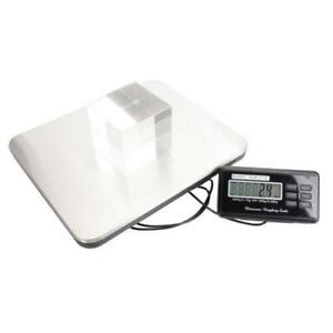 660lbs Lcd Digital Floor Bench Scale Postal Platform 300kg Weigh Us Standard