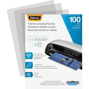 Fellowes 5743301 Laminating Pouches Letter 3 Mil 100 Pack Sheet Size