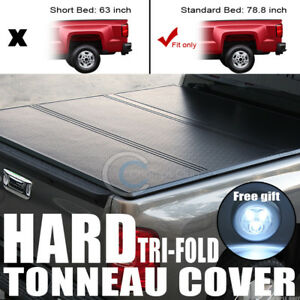 Tri fold Hard Tonneau Cover Trunk Lid Jr 88 Chevy C10 C k Silverado 6 5 Ft Bed