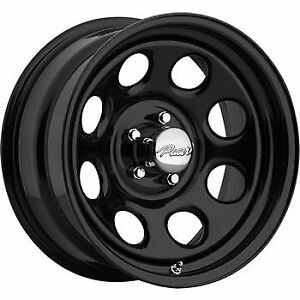 16x7 Black Pacer Soft 8 Wheels 5x4 5 0 Plymouth Road Runner Ford Mustang
