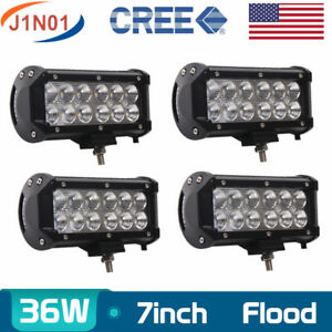 4x 7inch 36w Cree Led Work Light Flood Reverse Lamp Trailer Truck Ute Offroad 8