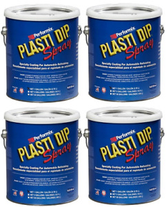 Performix Plasti Dip 10101013s Gun Metal Gallon Rubber Spray 4 Pack