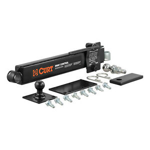 Curt 17200 Adjustable Trailer Mounted Hitch Sway Stabilizer Control Kit Unit