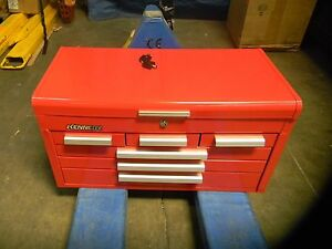 Kennedy 6 Drawer Steel Tool Chest 26 1 8 X 12 X 14 3 4 Red Smooth Finish 266r