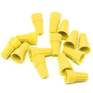 1000 Pcs Yellow Screw On Wire Electrical Connectors Twist on Easy Screw Pack
