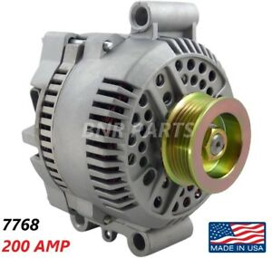 200 Amp 7768 Alternator Ford Mazda High Output Performance Hd New Made In Usa
