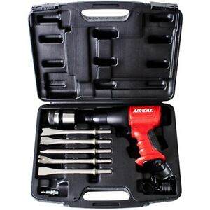 Aircat 5100 a Composite Short Barrel Air Hammer Kit W case 5 Piece Chisel Set