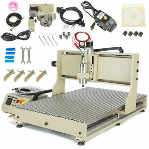 Usb Cnc Router 4axis 6090 2 2kw Vfd Engraver Milling Drilling Machine G Code tab