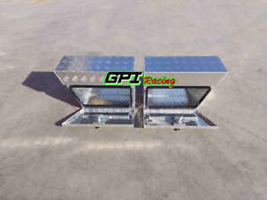 24 x10 x16 pair Aluminium Undertray Under Tray Underbody Ute Tool Box Toolbox