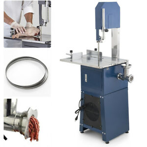 550w Stand Up Meat Band Saw Grinder Dual Electric Food Processor 2 Free Blades