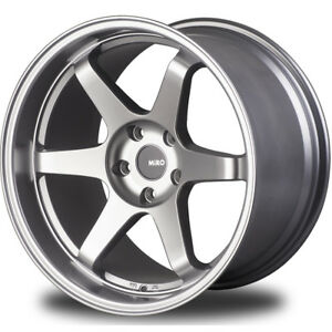 19x8 5 Silver Miro Type 398 Wheels 5x4 5 15 Fits Dodge Charger