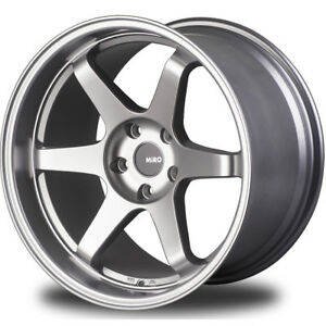 18x10 5 Silver Miro Type 398 Wheels 5x4 5 20 Fits G35 Ford Mustang