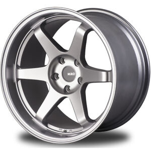 18x9 5 Silver Miro Type 398 Wheels 5x4 5 20 Ford Mustang Toyota
