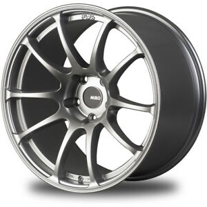 18x9 5 Silver Miro Type 563 Wheels 5x4 5 20 Ford Mustang Fits G35