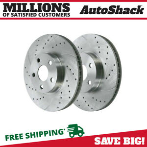 Front Drilled Slotted Performance Rotors Pair 2 For 03 08 Toyota Corolla 96934