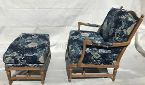 Ethan Allen Lounge Chair And Ottoman