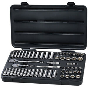 Gearwrench 80550 57 Piece 3 8 Drive 6 Point Sae And Metric Socket Set freeship