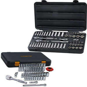 Gearwrench 80550f 57 Pc 3 8 And 80300p 51 Piece 1 4 Drive 6 Point Sae metric