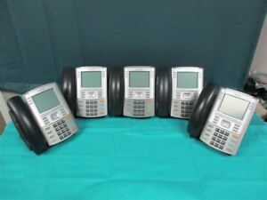 Lot Of 5 Nortel Avaya Ip Office Phones 1140e Ntys05 W Handset Stand