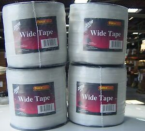 10 Rolls 1 1 2 Wide Horse Polytape 656 Electric Fence White