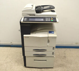 Kyocera Km 3035 Scan Fax Print Copier 2 tray Bypass Network untested Dual sided