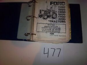 Ford Tractor Illustrated Parts Catalog 1100 1200 13001400 1500 1700 1900