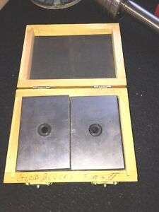 Fowler 1 2 3 Steel Blocks 52 439 001 Set In Wooden Case
