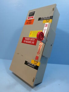 Cutler hammer 60 Amp 600v Dt362ugk Double Throw Switch Manual Transfer Eaton A