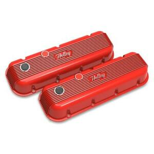 Holley Valve Cover Set 241 303 Vintage Series Red Cast Aluminum For Chevy Bbc