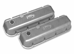 Holley 241 300 Bbc Vintage Series Finned Valve Covers Natural Cast Finish
