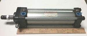 New smc Double Acting Tie Rod Air Cylinder 2 Bore X 8 Stroke 3 4 Shaft
