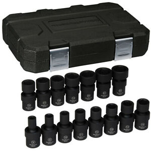 Gearwrench 84918n 15 Piece 3 8 Drive 6 Point Metric Universal Impact Socket Set