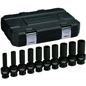 Gearwrench 84945n 10 Piece 1 2 Dr 6 Pt Metric Deep Universal Impact Socket Set