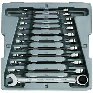 Gearwrench 9412 12 Piece Metric Combination Ratcheting Wrench Set With Freeship