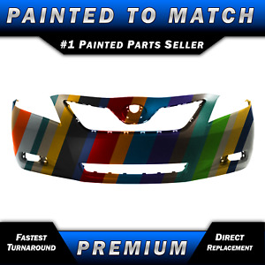 New Painted To Match Front Bumper Fascia Direct Fit For 2007 2009 Toyota Camry