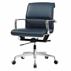 M330 Office Chair In Navy Vegan Leather